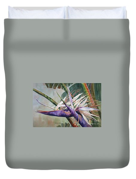 Betty's Bird - Bird Of Paradise Duvet Cover
