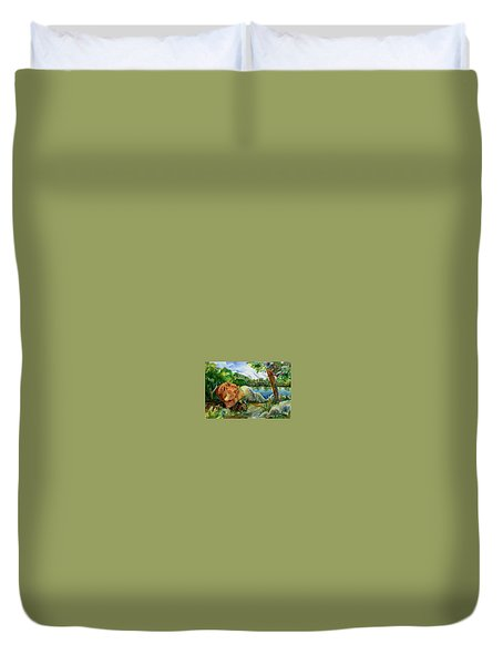 Between A Rock And Hardplace Duvet Cover