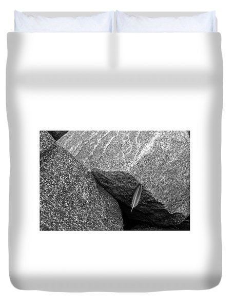 Between A Rock Duvet Cover