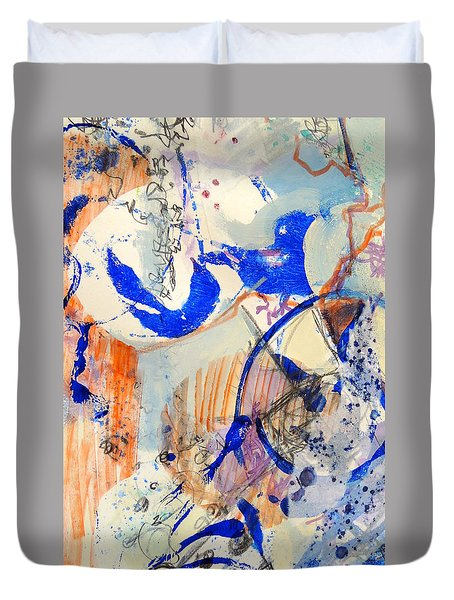 Between Branches Duvet Cover by Mary Schiros