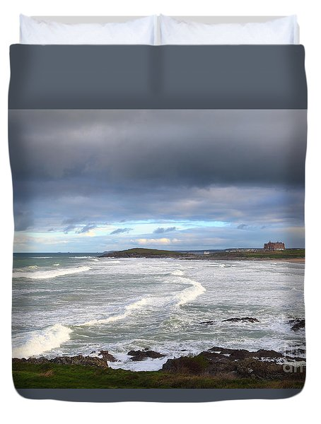 Duvet Cover featuring the photograph Between Cornish Storms 1 by Nicholas Burningham