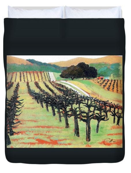 Between Crops Duvet Cover by Gary Coleman