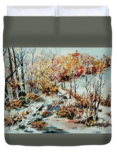Between Frozen Waters Duvet Cover