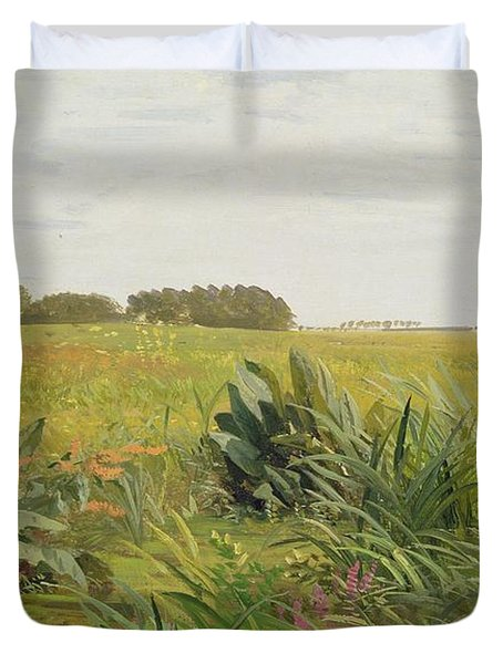 Between Geest And Marsh Duvet Cover by Valentin Ruths