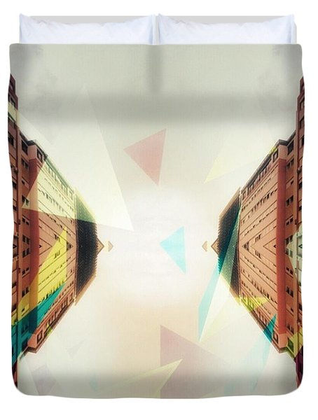 Between Imagination And Reality Duvet Cover
