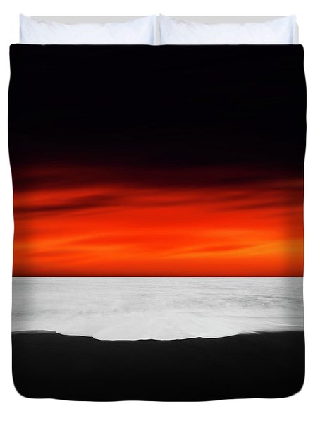 Between Red And Black Duvet Cover
