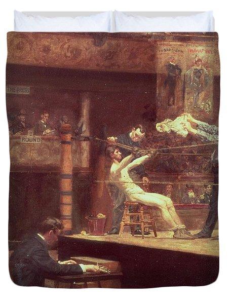 Between Rounds Duvet Cover by Thomas Cowperthwait Eakins