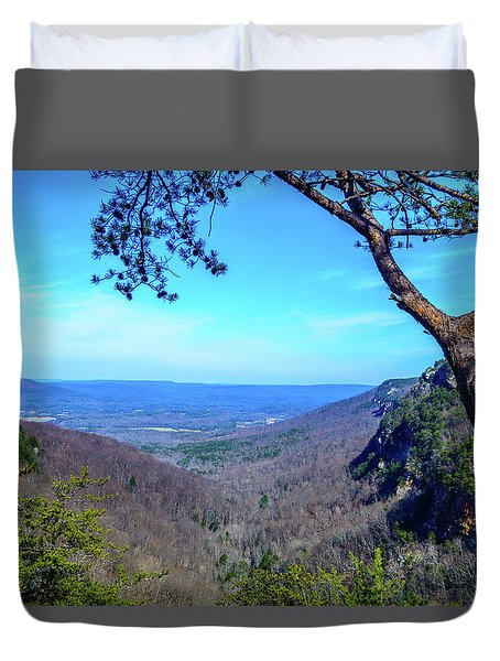 Between The Cliffs Duvet Cover