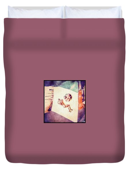 Between The Ears Duvet Cover