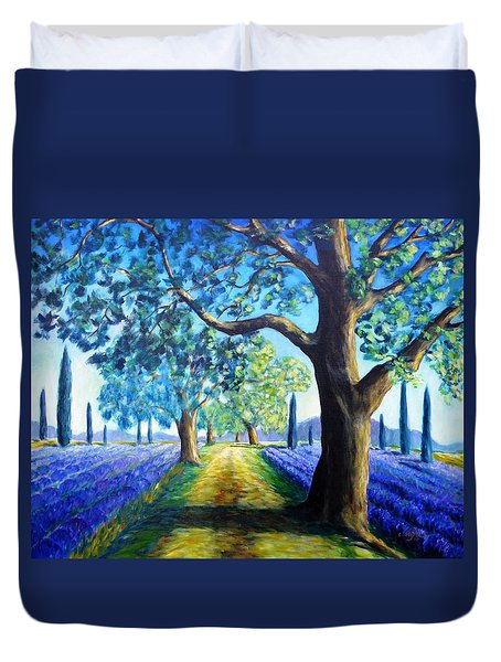 Between The Lavender Fields Duvet Cover