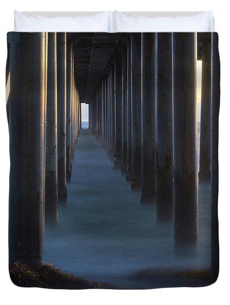 Between The Pillars  Duvet Cover
