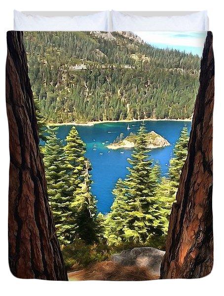 Between The Pines Duvet Cover