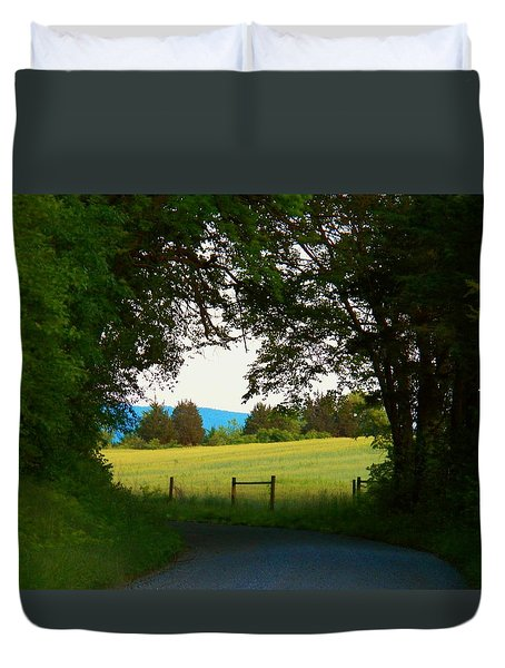 Between The Trees Duvet Cover by Joyce Kimble Smith