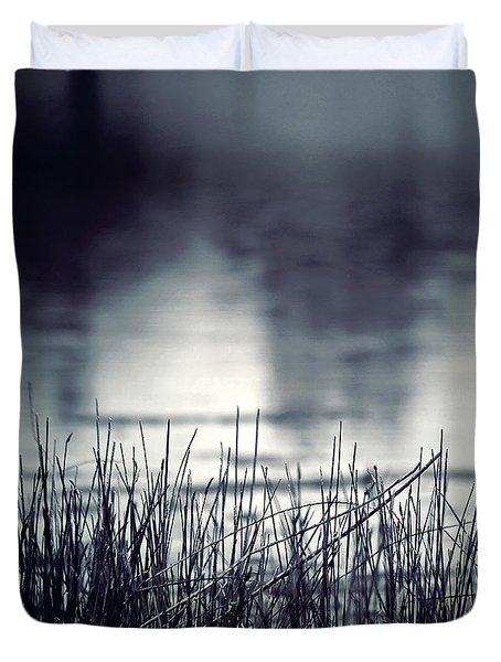 Duvet Cover featuring the photograph Between The Waters by Trish Mistric