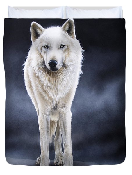 'between The White And The Black' Duvet Cover by Sandi Baker