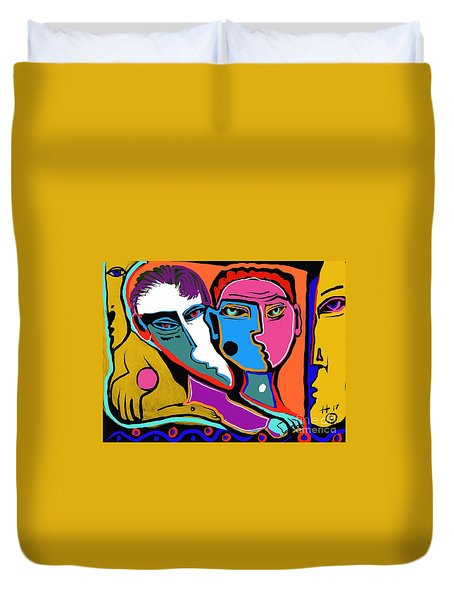 Between Two Brothers Duvet Cover