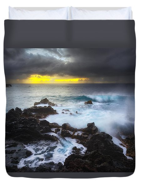 Duvet Cover featuring the photograph Between Two Storms by Ryan Manuel
