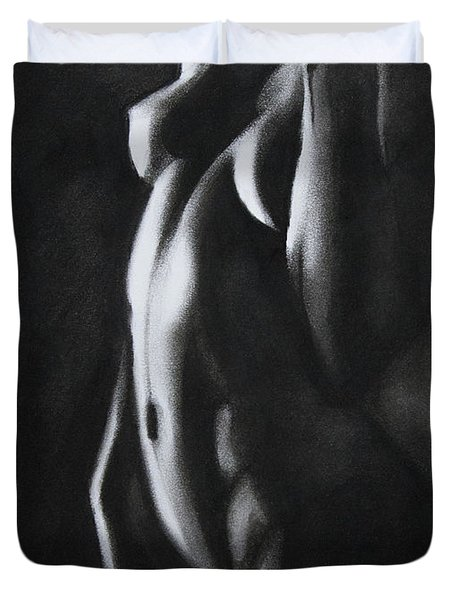 Between Worlds - Charcoal Duvet Cover