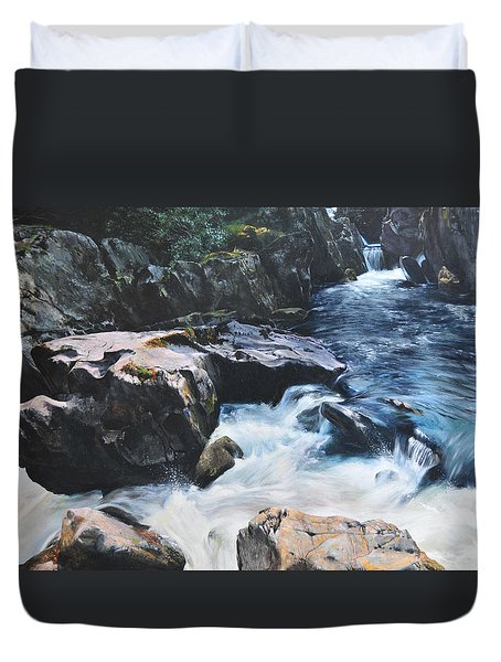 Betws-y-coed Waterfall Duvet Cover