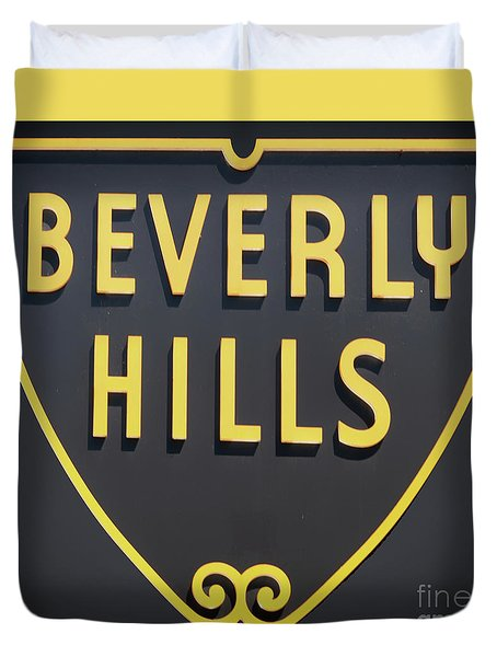 Beverly Hills Sign Duvet Cover