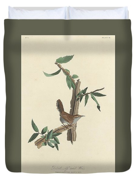 Bewick's Long-tailed Wren Duvet Cover by Dreyer Wildlife Print Collections