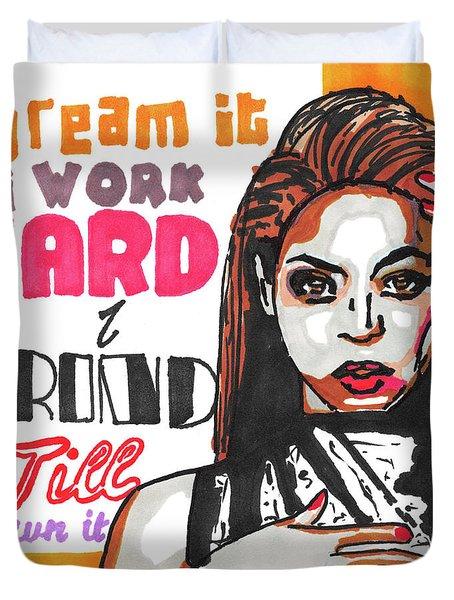 Beyonce Pop Art Painting Duvet Cover