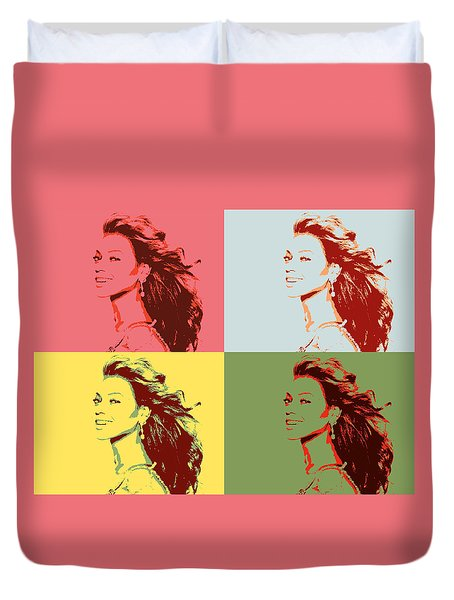 Beyonce Pop Art Panels Duvet Cover