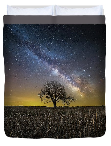 Duvet Cover featuring the photograph Beyond by Aaron J Groen