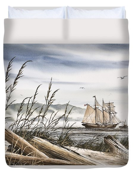 Beyond Driftwood Shores Duvet Cover by James Williamson