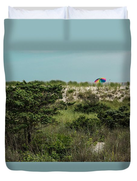 Duvet Cover featuring the photograph Beyond The Beach  by Jose Oquendo