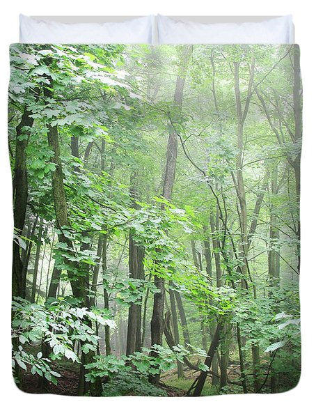 Beyond The Misty Forest Duvet Cover