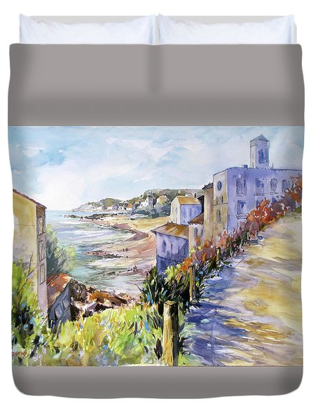 Beyond The Point Duvet Cover by Rae Andrews