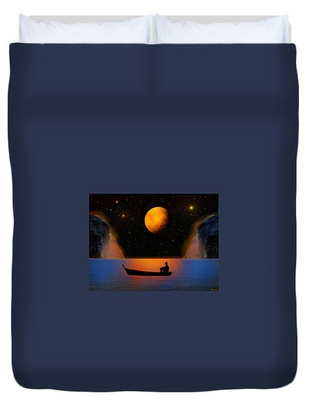 Duvet Cover featuring the photograph Beyond The Stars by Bernd Hau
