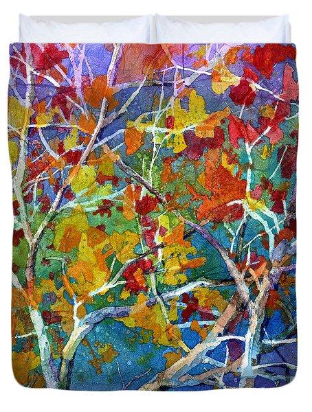 Beyond The Woods - Orange Duvet Cover
