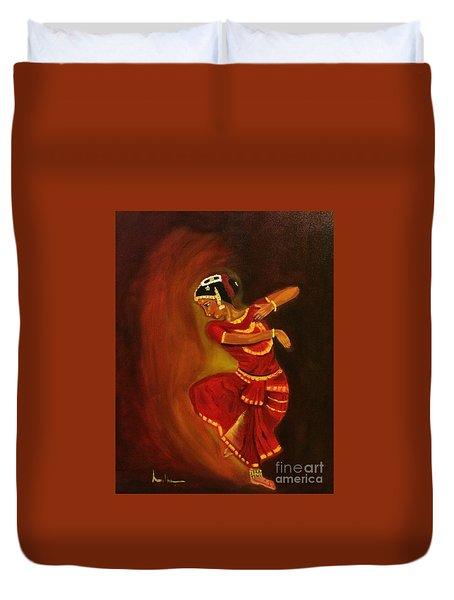 Bharatnatyam Dancer Duvet Cover