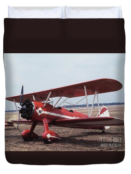 Duvet Cover featuring the photograph Bi-wing-1 by Donald Paczynski