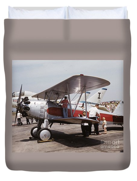 Duvet Cover featuring the photograph Bi-wing-3 by Donald Paczynski