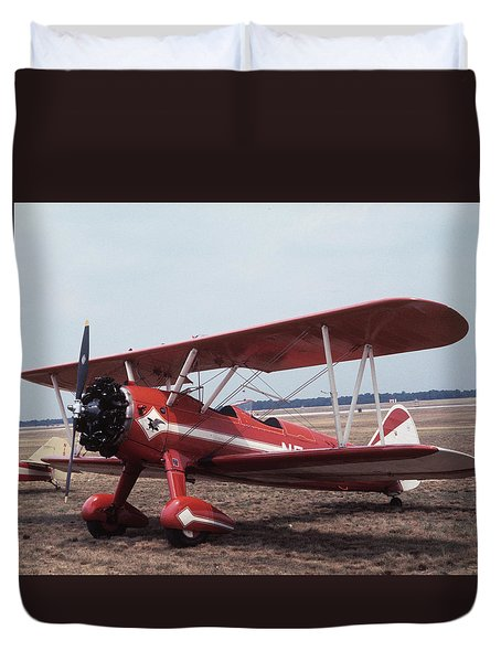 Duvet Cover featuring the photograph Bi-wing-6 by Donald Paczynski