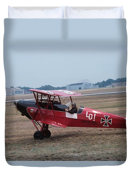 Duvet Cover featuring the photograph Bi-wing-7 by Donald Paczynski
