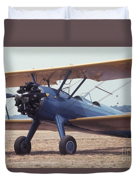 Duvet Cover featuring the photograph Bi-wing-8 by Donald Paczynski