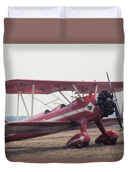 Duvet Cover featuring the photograph Bi-wing-9 by Donald Paczynski