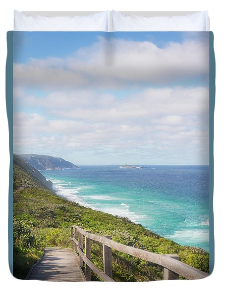 Duvet Cover featuring the photograph Bibbulmun Track Albany Wind Farm by Ivy Ho