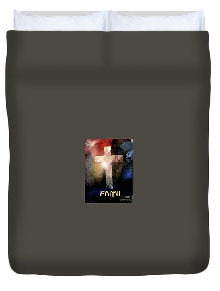 Biblical-faith Duvet Cover by Terry Banderas