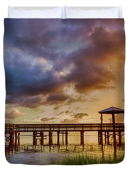 Bicentennial Sunset Duvet Cover