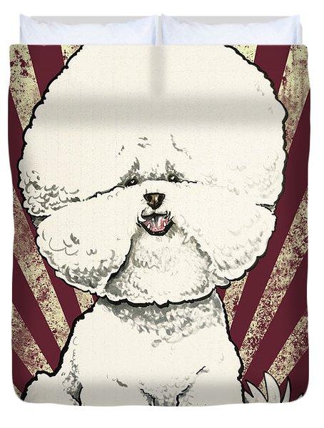 Bichon Frise Revolution Duvet Cover