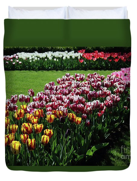 Multicolor Tulips Duvet Cover