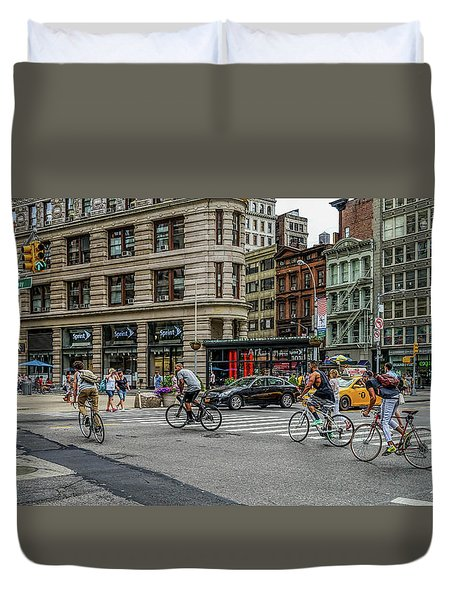 Bicycle Ballet  Duvet Cover by Jeffrey Friedkin