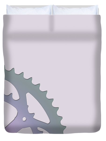 Bicycle Chain Ring - 2 Of 4 Duvet Cover by Serge Averbukh