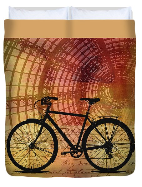 Bicycle Life Duvet Cover by Nancy Merkle