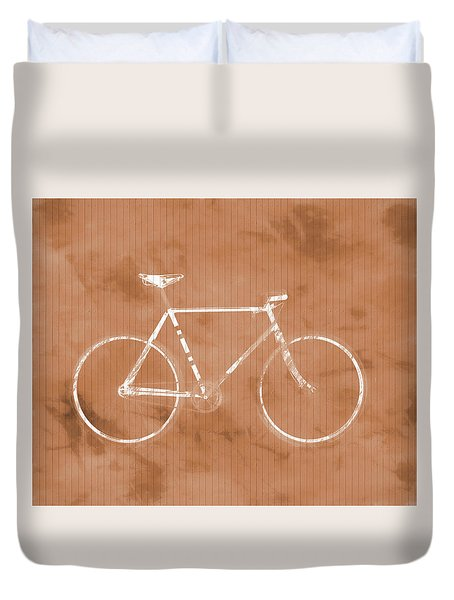 Bicycle On Tile Duvet Cover by Dan Sproul